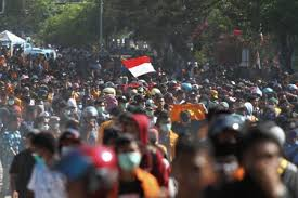Situasi unjuk rasa mahasiswa di kendari